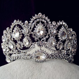 European Tiara Gemmed Hair Accessories (Wedding)
