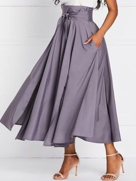 Ericdress Expansion Pleated Ankle-Length High Waist Skirt