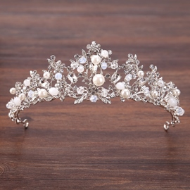 Korean Tiara Pearl Inlaid Hair Accessories (Wedding)
