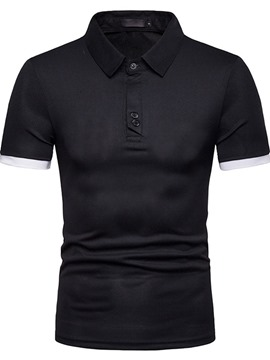 ericdress lässiges Colour-Block-Poloshirt mit Farbblock