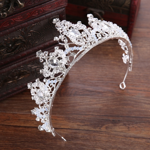 Tiara Crown Gemmed Hair Accessories (Wedding)