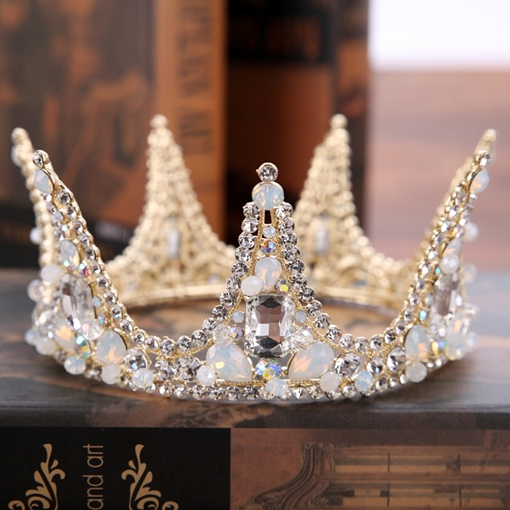 Pearl Inlaid Korean Tiara Hair Accessories (Wedding)