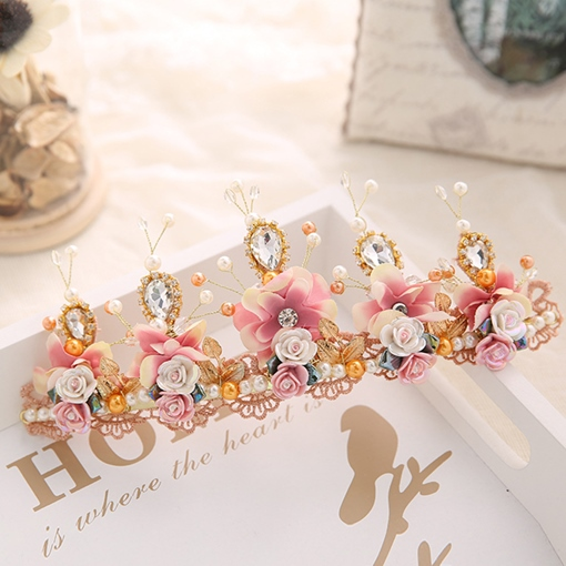 Gemmed European Crown Hair Accessories (Wedding)
