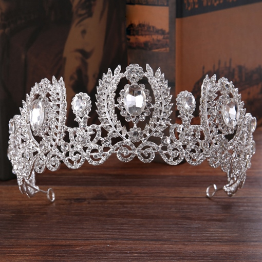 Gemmed Tiara Korean Hair Accessories (Wedding)