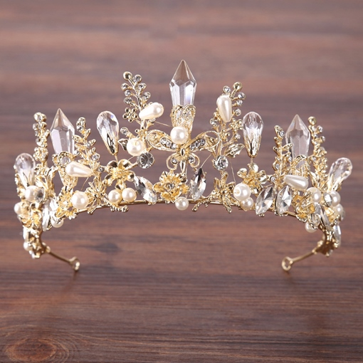 Gemmed Korean Tiara Hair Accessories (Wedding)