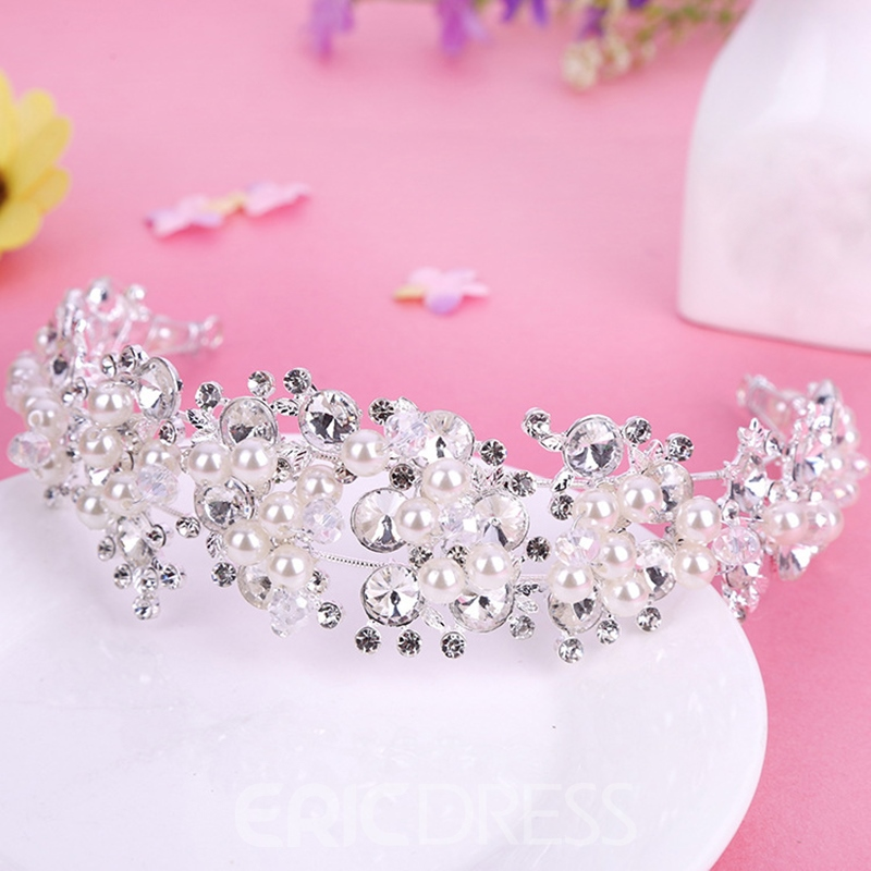 Ericdress Korean Pearl Inlaid Crown Hair Accessories (Wedding)