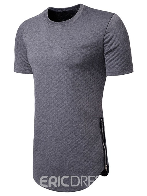 Ericdress Round Neck Plain Casual Mens Loose T-shirt