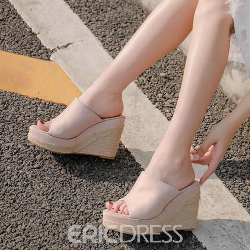 Ericdress Woven Wedge Heel Flip Flop Women's Sandals