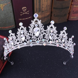 Gemmed Tiara European Hair Accessories (Wedding)
