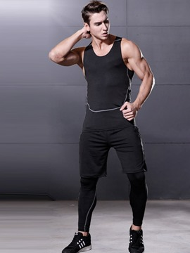 Ericdress Men Anti-Friction Sleeveless Shorts Sports Sets
