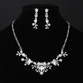Gemmed European Necklace Jewelry Sets (Wedding)