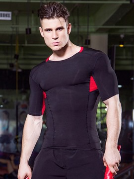 Bloque de color ericdress corriendo tops masculinos