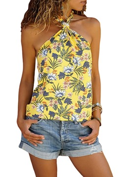 Ericdress Halter Print Single Tank Top