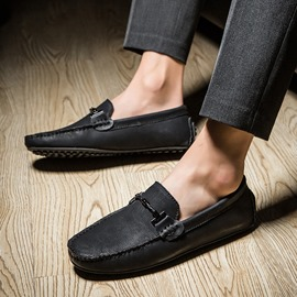 Ericdress PU Round Toe Slip-On Men's Casual Loafers