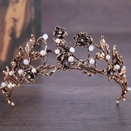 Pearl Inlaid Tiara Vintage Hair Accessories (Wedding)