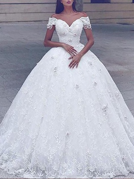 Ericdress Ball Gown Beading Lace Wedding Dress 2019