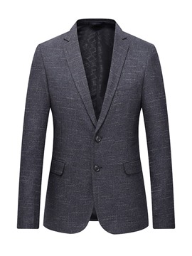 Ericdress Plain Slim Notched Lapel Mens Blazer