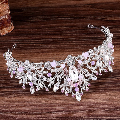 Gemmed Crown Korean Hair Accessories (Wedding)