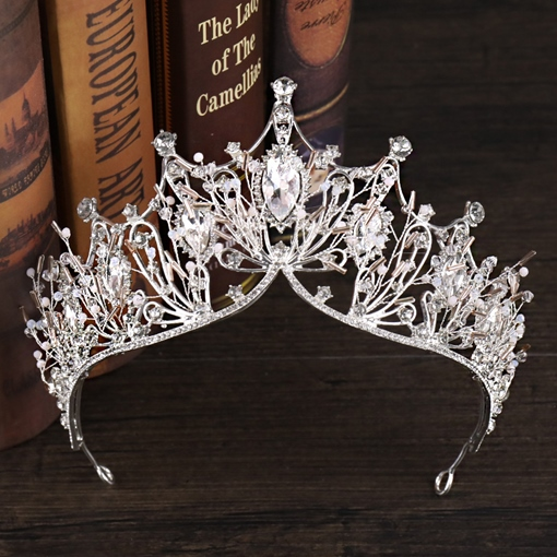 Crystal Inlaid Korean Crown Hair Accessories (Wedding)