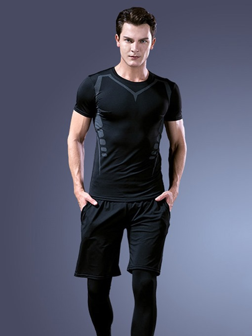 Ericdress Men Pullover Shorts Running Sports Sets