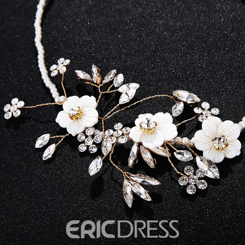 European Pearl Floral Necklace Jewelry Sets (Wedding)