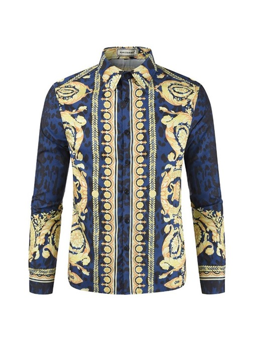 Ericdress African Fashion Dashiki Single-Breasted Mens Casual Shirt