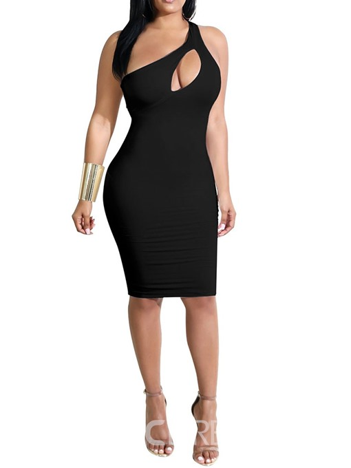 Ericdress Hollow Knee-Length Sleeveless Sexy Pullover Dress