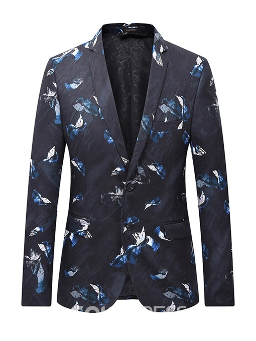 Ericdress Notched Lapel Casual Mens Single-Breasted Blazer
