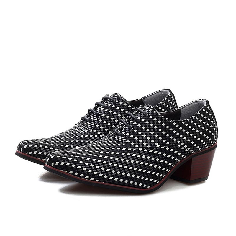 Ericdress Polka Dot Lace-Up Pointed Toe Men's Dress Shoes