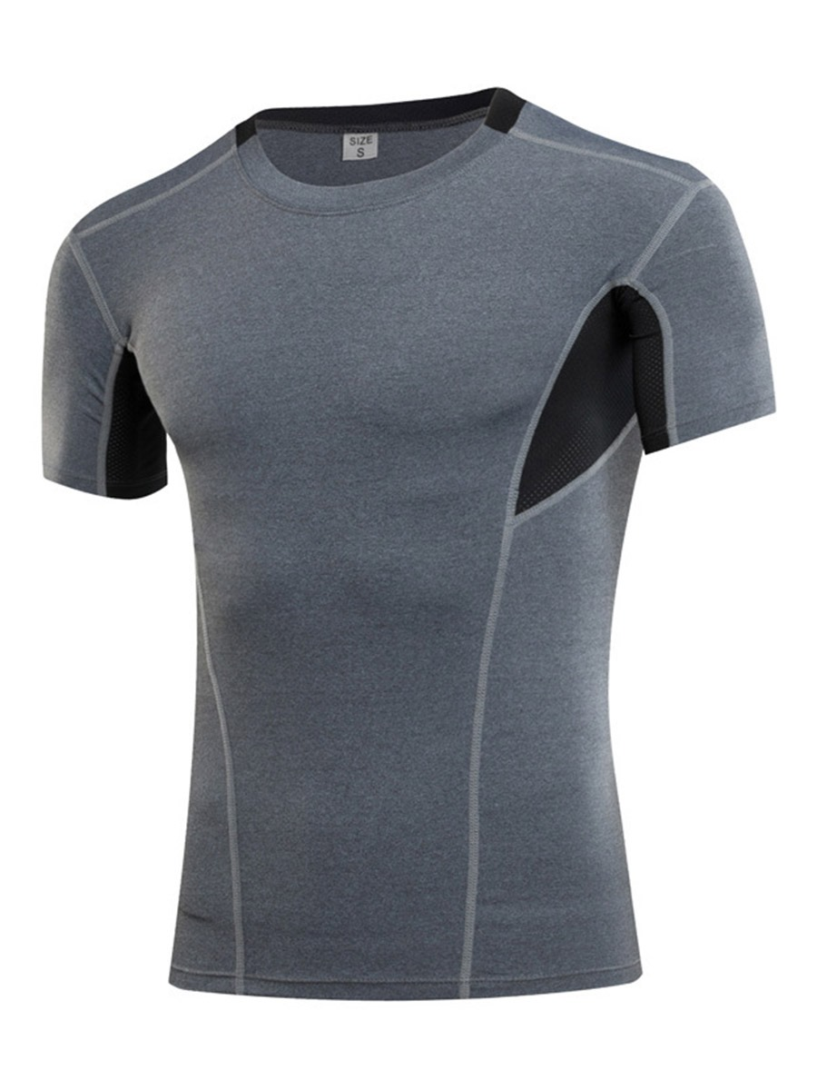 Ericdress Color Block Running Men Sports Tops