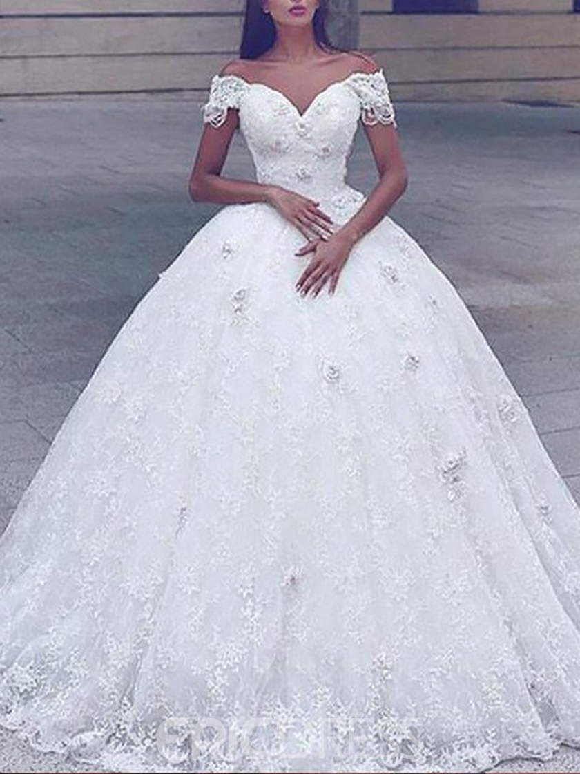 Ericdress Ball Gown Beading Lace Wedding Dress