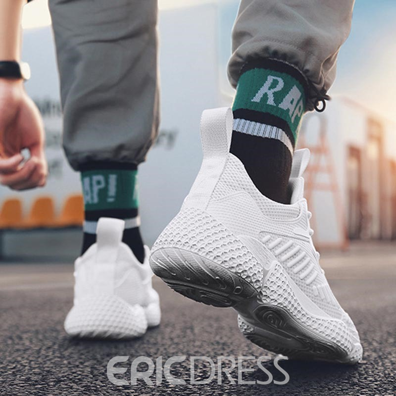 Ericdress Plain Mesh Lace-Up Men's Sneakers
