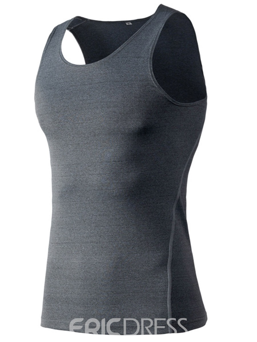 Ericdress Quick Dry Sleeveless Pullover Men Sports Tank Tops