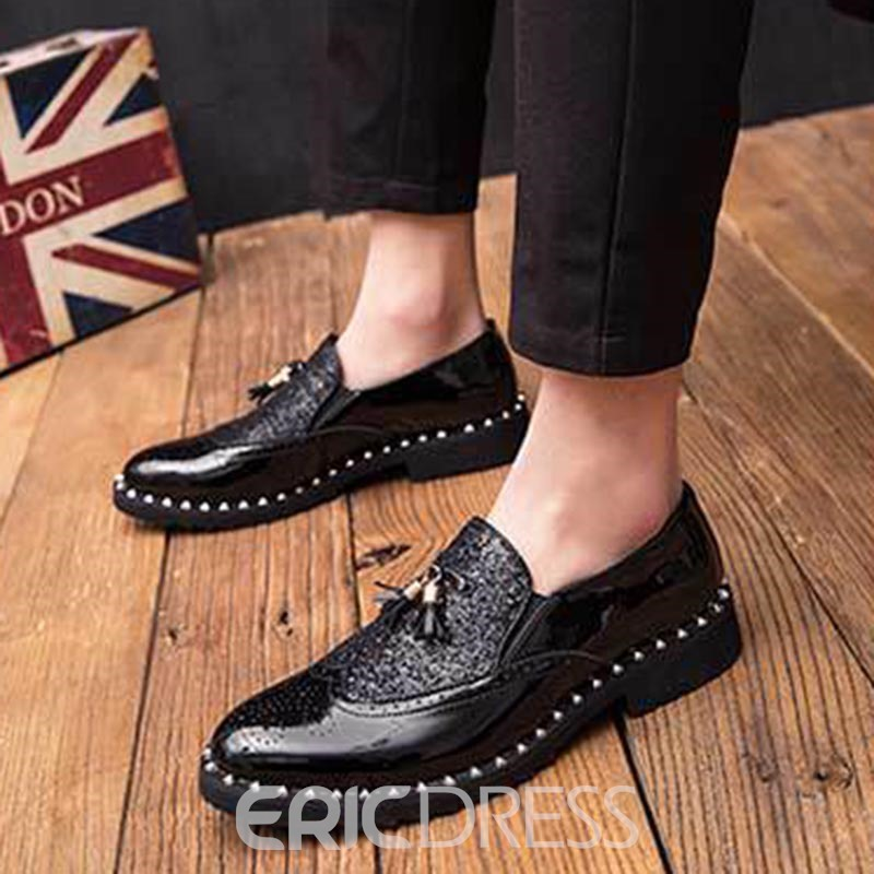 Ericdress Patchwork Round Toe Slip-On Men's Dress Shoes
