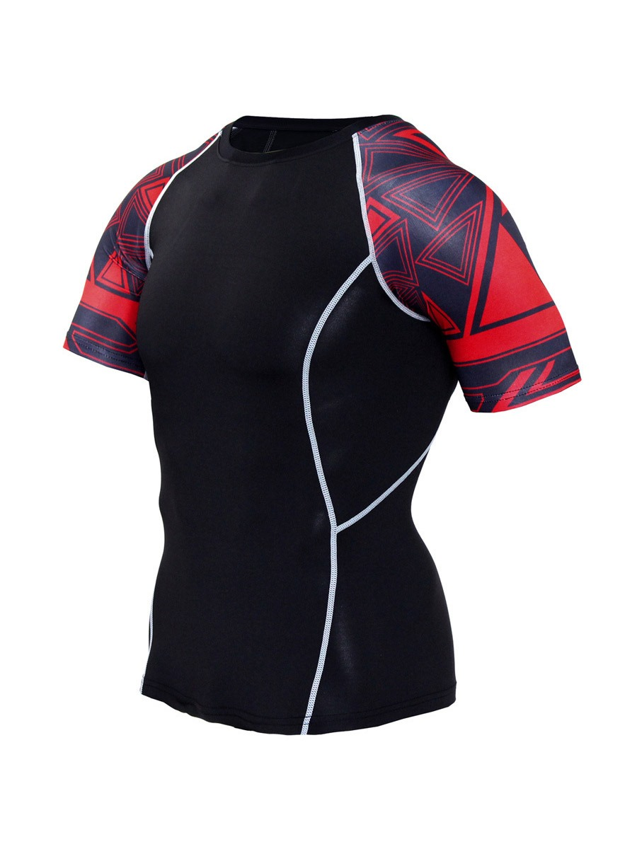 Ericdress Men Geometric Print Basketball Pullover Sports Tops