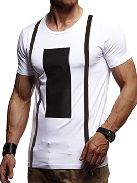 Ericdress Casual Print Color Block Mens Slim T-shirt