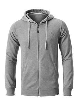 Ericdress Cardigan Pocket Plain Men's Straight Hoodies