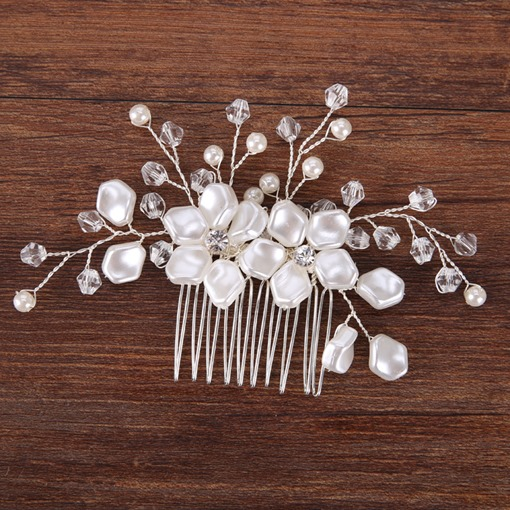 European Pearl Inlaid Hair Comb