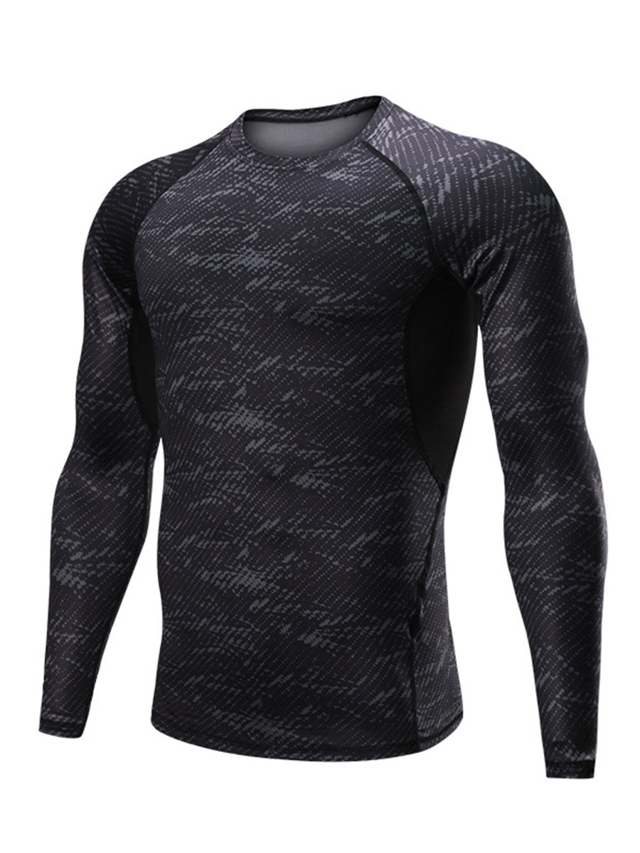 Ericdress Men Print Short Sleeve Sports Tops