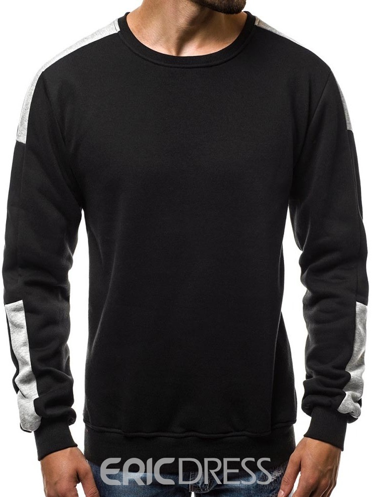 Ericdress Color Block Patchwork Mens Casual Pullover Hoodies