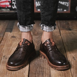 Ericdress PU Low-Cut Upper Round Toe Men's Shoes
