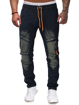 Ericdress Full Length Mens Jeans