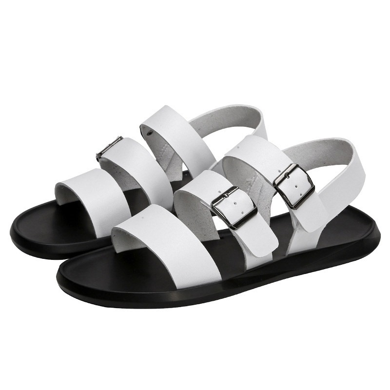 Ericdress PU Buckle Men's Flat Sandals