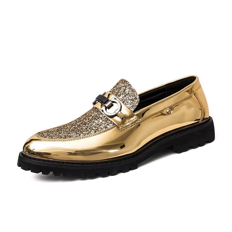 Ericdress Sequin Patchwork Round Toe Men's Dress Shoes