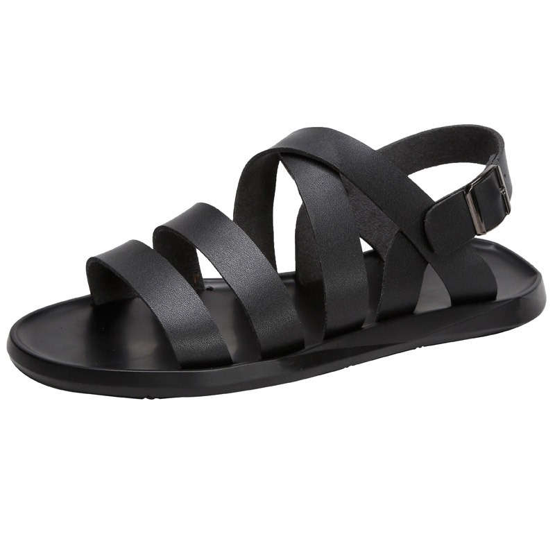 Ericdress Plain Buckle Men's Flat Sandals