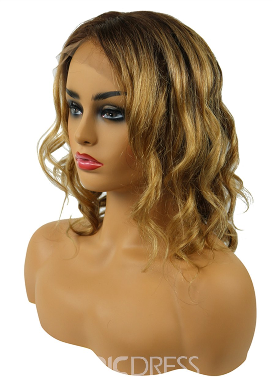 Ericdress Lace Front Cap Human Hair 12 Inches 120% Wigs 3.8