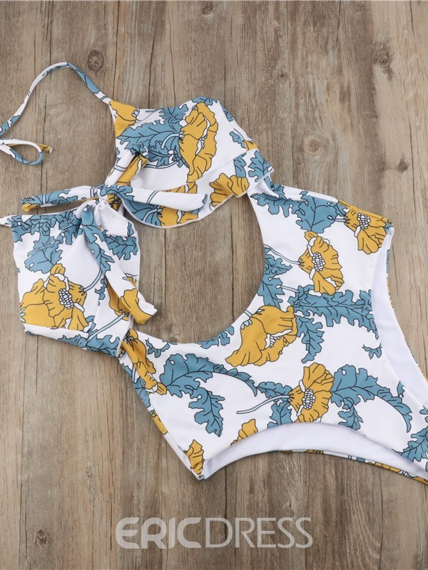 Ericdress Sexy Lace-Up Floral Swimwear