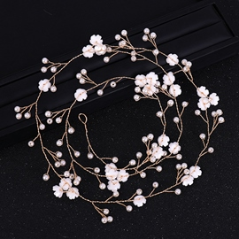 Pearl Inlaid Hair Rope Korean Hair Accessories (Wedding)