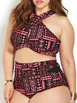 Ericdress Plaid Plus Size Bikini Suit Swimwear