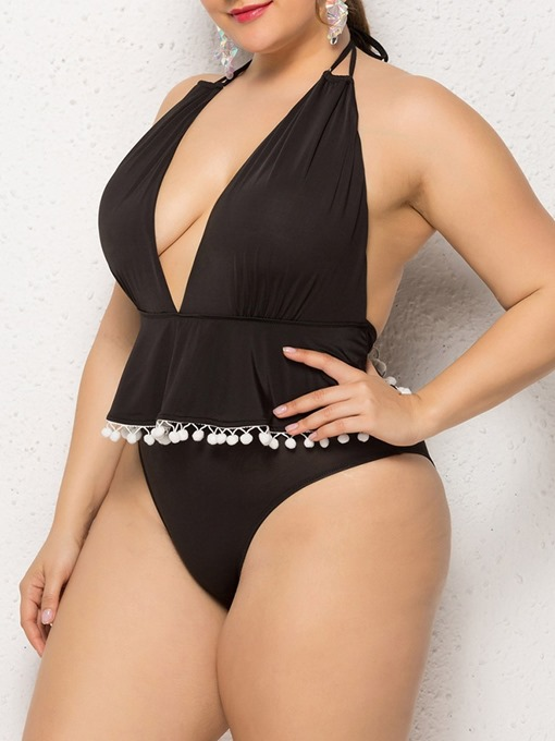 Ericdress Falbala Beach Look Plus Size Swimwear